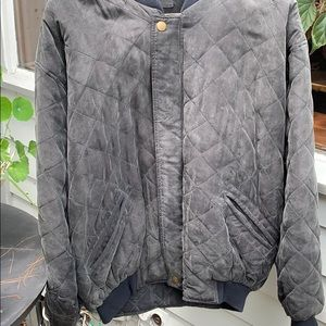 Men's M Pure Silk quilted bomber jacket.